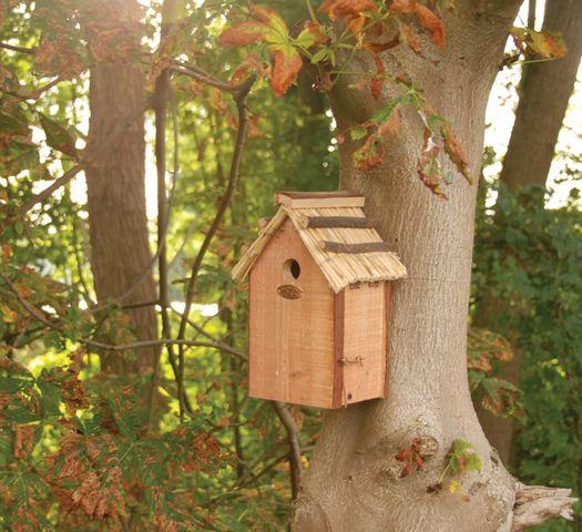 Esschert Vogelhuis Pimpelmees Rieten Dak