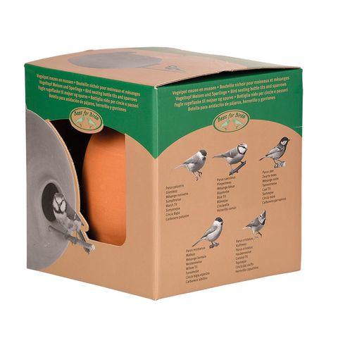 Vogelpot rond mezen en mussen