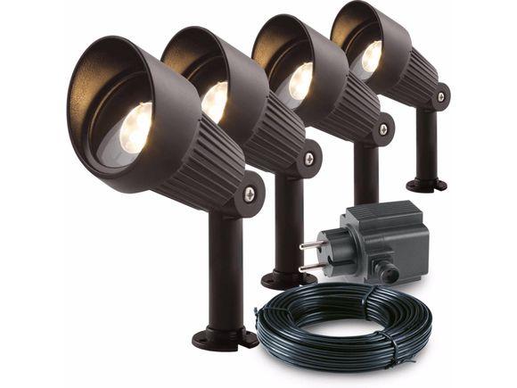 Garden Lights Tuinspot set Focus LED 4 Stuks