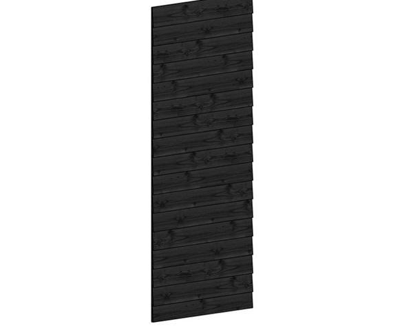 Wandmodule Lariks Douglas Potdekselplanken Zwart 163 x 220 cm
