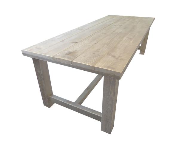 Steigerhout kloostertafel houten tafel buiten kant en klaar for Tuintafel steigerhout bouwpakket