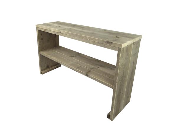 Steigerhout sidetable tafel maatwerk side table for Tuintafel steigerhout bouwpakket
