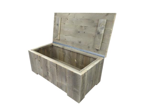 Steigerhout tuinkist 105 x 60 x 45 cm kussenbox for Tuintafel steigerhout bouwpakket