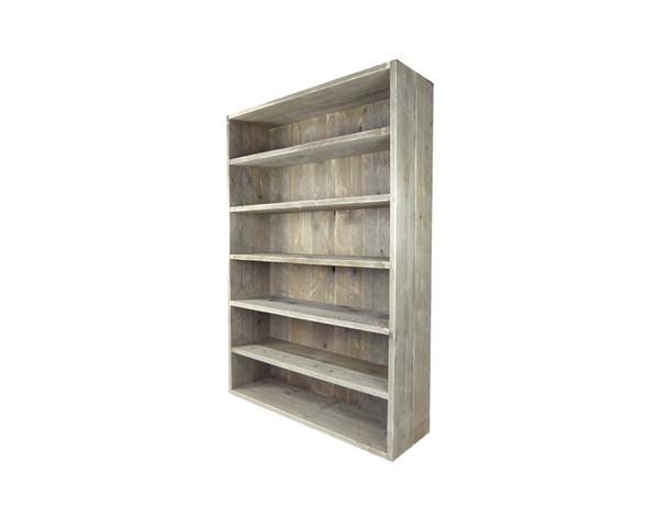 Steigerhouten boekenkast maatwerk steigerhout kast op maat for Boekenkast steigerhout