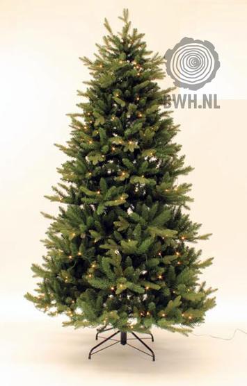 kunstkerstboom met led verlichting 210 cm hoogte kunstboom