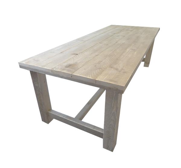 Steigerhout kloostertafel houten tafel voor buiten op maat for Tuintafel steigerhout bouwpakket