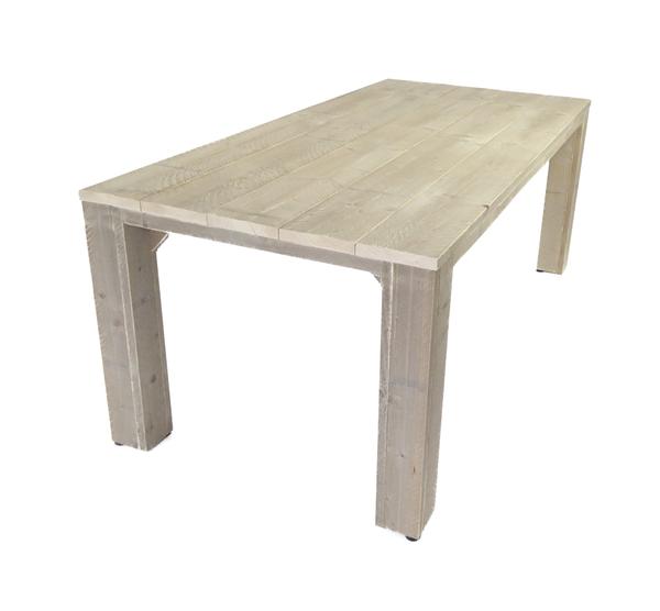 Steigerhouten eettafel houten eettafel voor buiten op maat for Tuintafel steigerhout bouwpakket