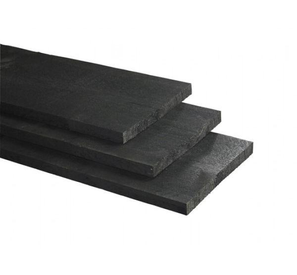 Schuttingplank zwart gespoten 2 4 x 27 x 400 cm extra breed - Planken zwarte ...