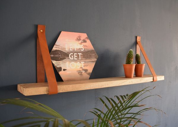 Leren plankdragers met Mango plank