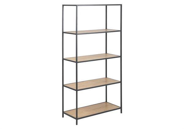 sabro-boekenkast-4-planken-150-cm-wild-eiken-zwart-frame-1