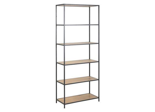 sabro-boekenkast-6-planken-wild-eiken-zwart-frame-1
