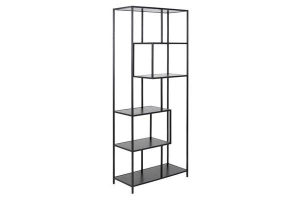 zwart-melamine-boekenkast-sabro-6-planken-1