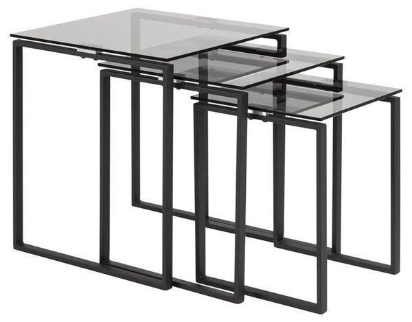 gandrup-set-bijzettafels-zwart-frame-rookglas