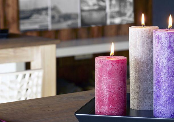 Bolsius Rustik Kerzen