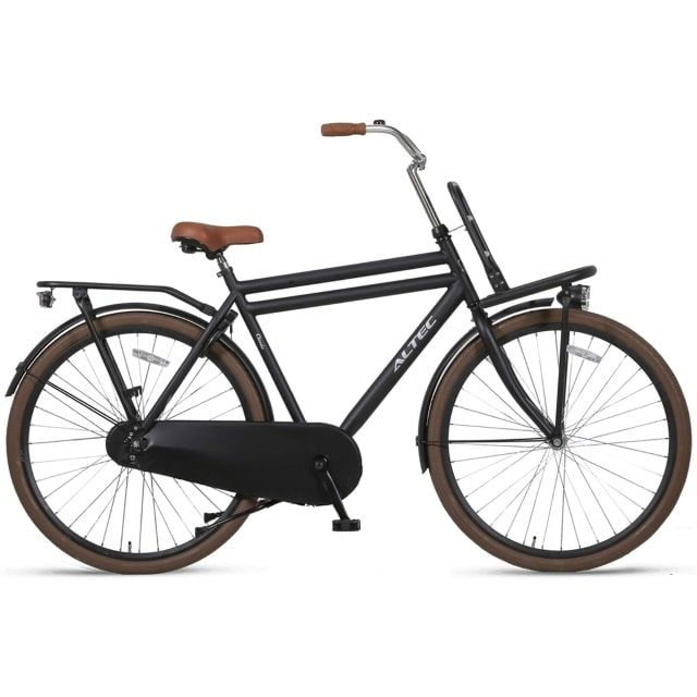 Altec Classic 28 inch 58 cm Heren Transportfiets Mat Zwart