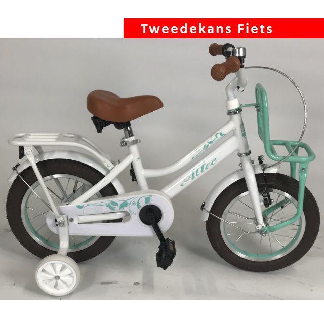 Altec Tuana Meisjes Transportfiets 14 inch Wit Turquoise Tweede Kans