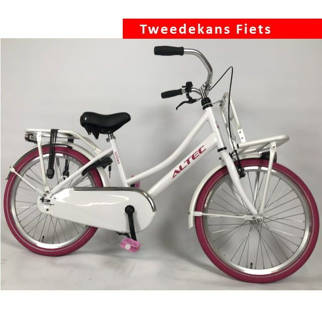 Altec Urban Transportfiets 22 inch Wit Roze Tweede Kans