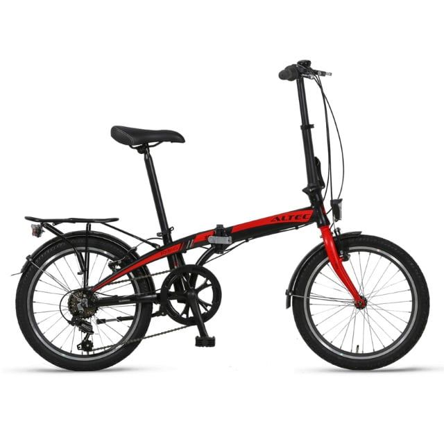 Altec Vouwfiets 6 Versnellingen 20 inch Black Red