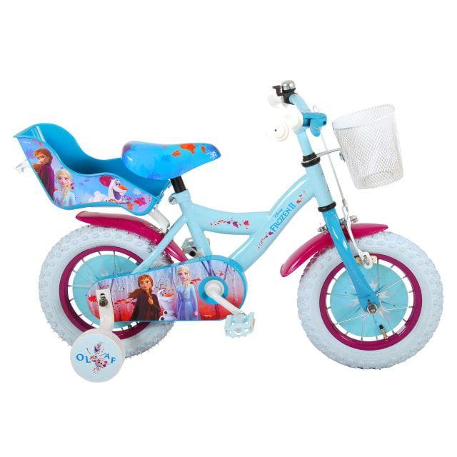 Disney Frozen 2 Kinderfiets Meisjes 12 inch Blauw Paars