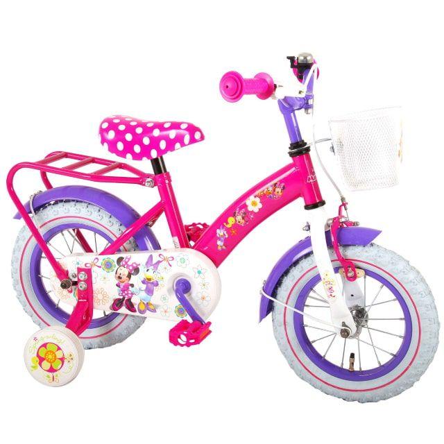 Disney Minnie Bow Tique Kinderfiets Meisjes 12 inch Roze Paars