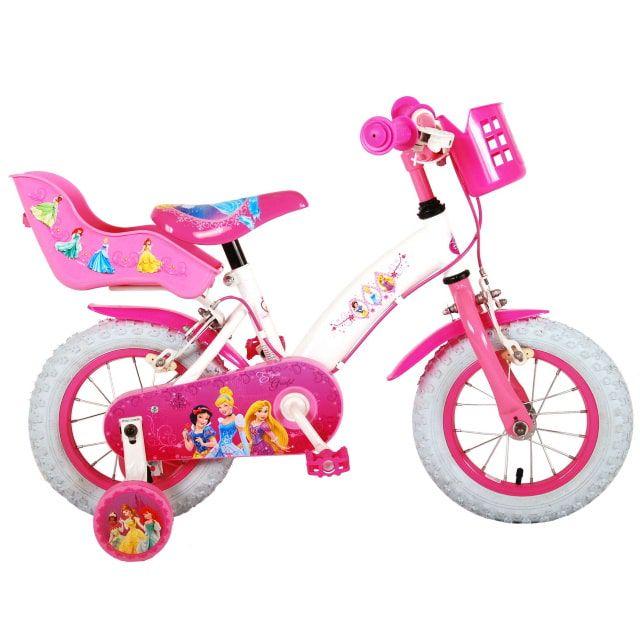 Disney Princess Kinderfiets Meisjes 12 inch Roze Twee handremmen