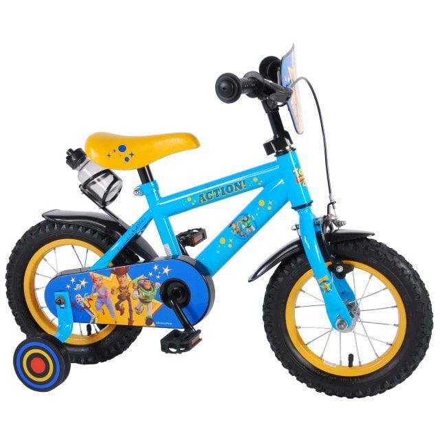 Disney Toy Story Kinderfiets Jongens 12 inch Blauw Geel