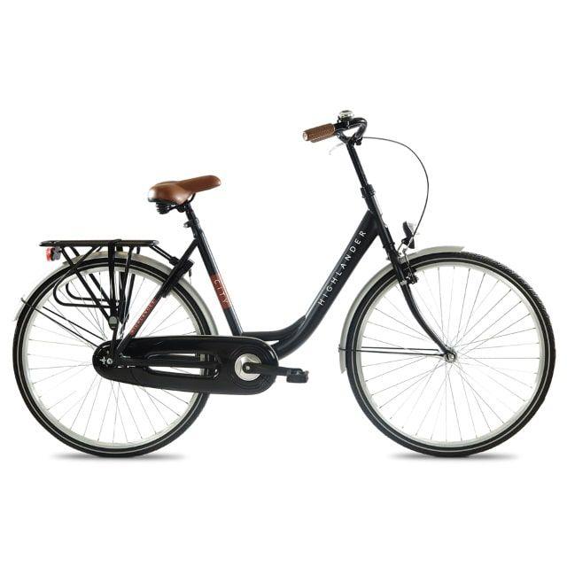 Highlander Citybike 28 inch Black