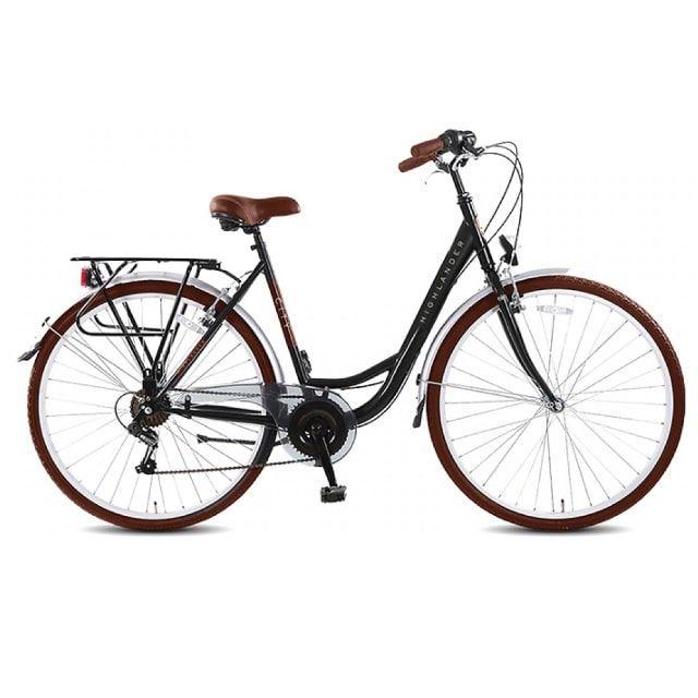 Highlander Citybike Dames 6 Versnellingen 28 inch Black