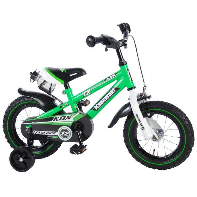 Kawasaki Kinderfiets Jongens 12 inch Groen Wit