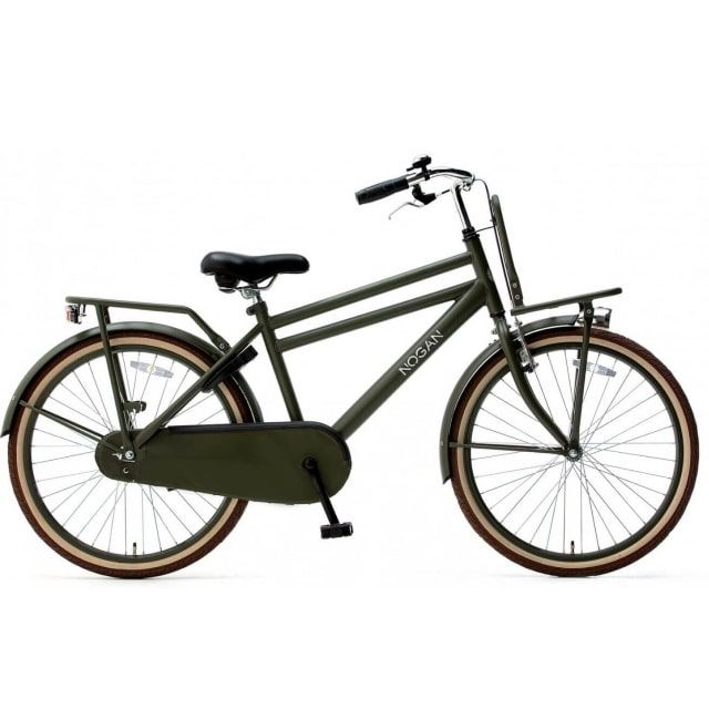 Nogan Vintage Transportfiets Jongens 24 inch Army Green