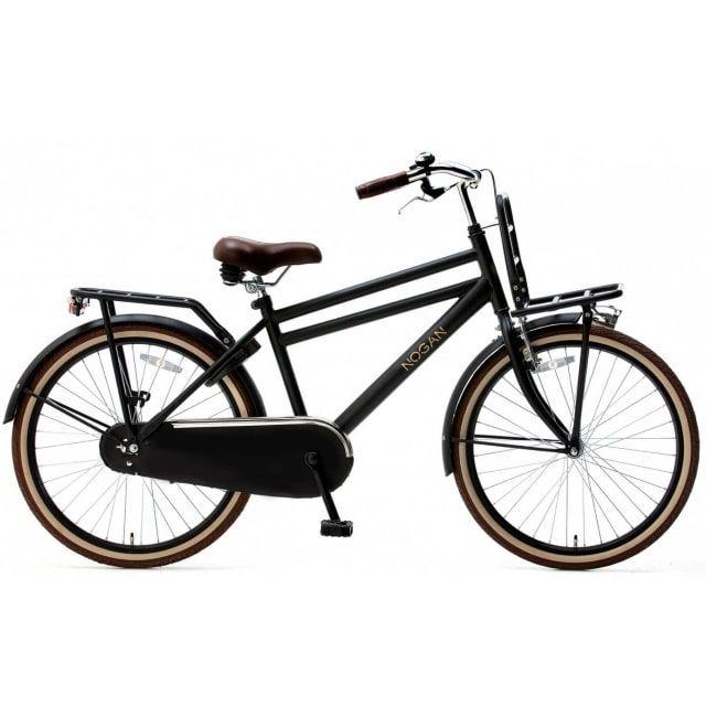 Nogan Vintage Transportfiets Jongens 24 inch Mat Zwart