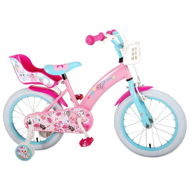 OJO Kinderfiets Meisjes 16 inch Roze
