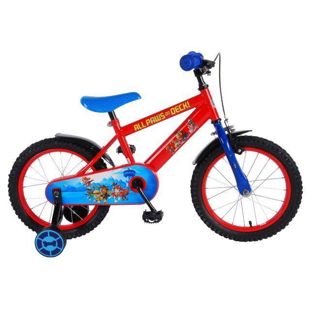 Paw Patrol Kinderfiets Jongens 16 inch Rood Blauw