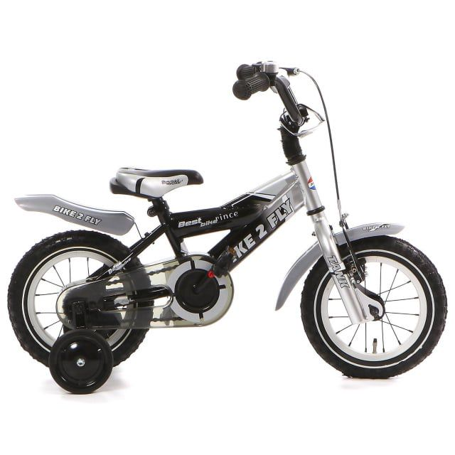 Popal Bike 2 Fly 12 inch Zilver Zwart