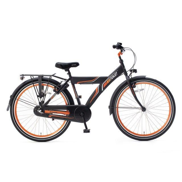 Popal Funjet 3 Versnellingen 26 inch Mat Zwart Oranje