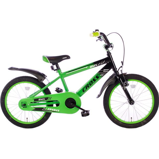 Spirit BMX Cross 18 inch Groen