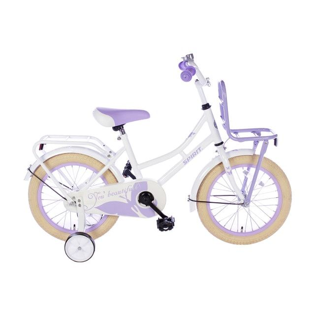 Spirit Omafiets 16 inch Wit Paars