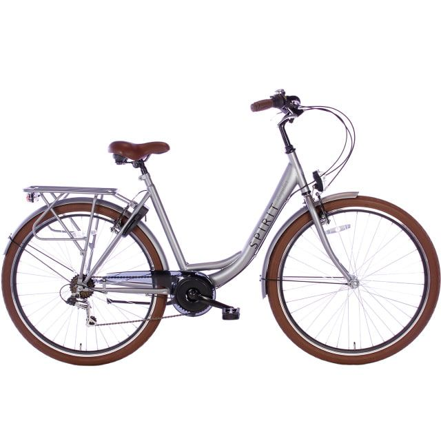 Spirit Regular Lady 7 Speed 28 inch 53 cm Mat Grijs