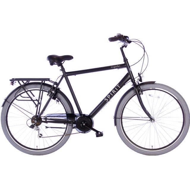 Spirit Regular Man 7 Speed 28 inch 58 cm Mat Zwart