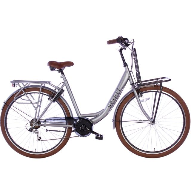 Spirit Regular Plus Lady 7 Speed 28 inch 53 cm Mat Grijs