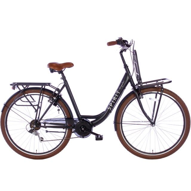 Spirit Regular Plus Lady 7 Speed 28 inch 53 cm Mat Zwart