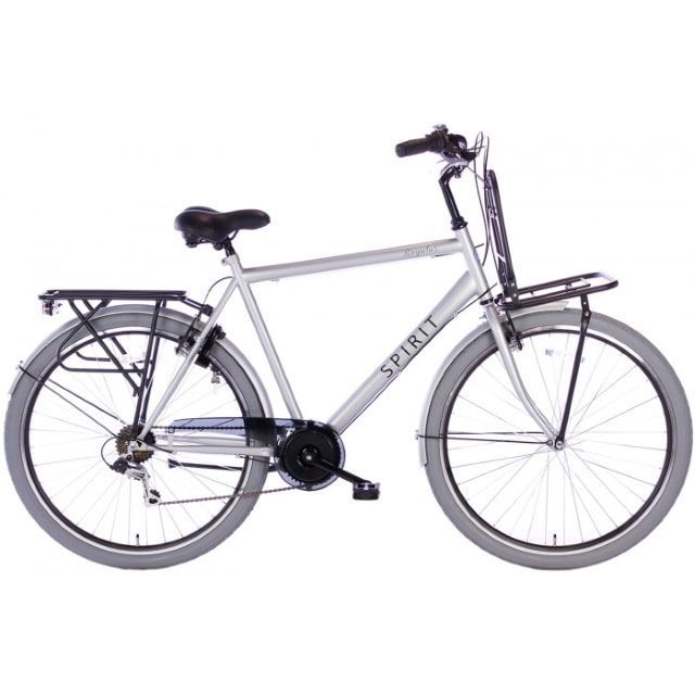 Spirit Regular Plus Man 7 Speed 28 inch 58 cm Mat Grijs