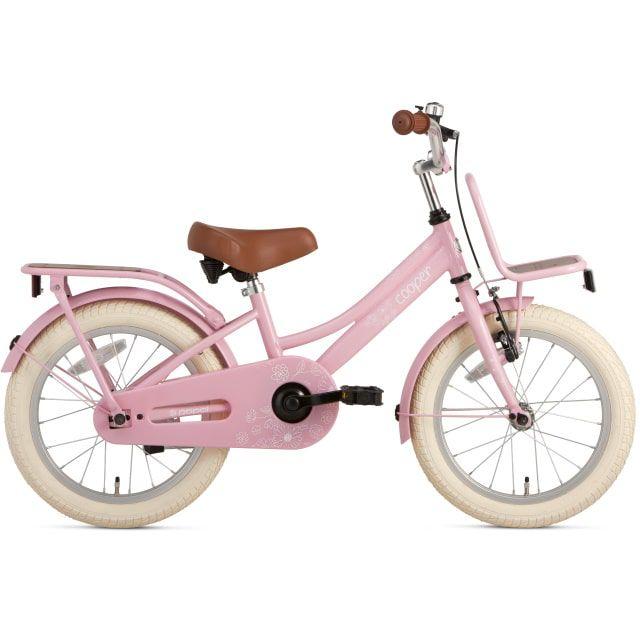 Supersuper Cooper Bamboo 16 inch Roze Meisjesfiets