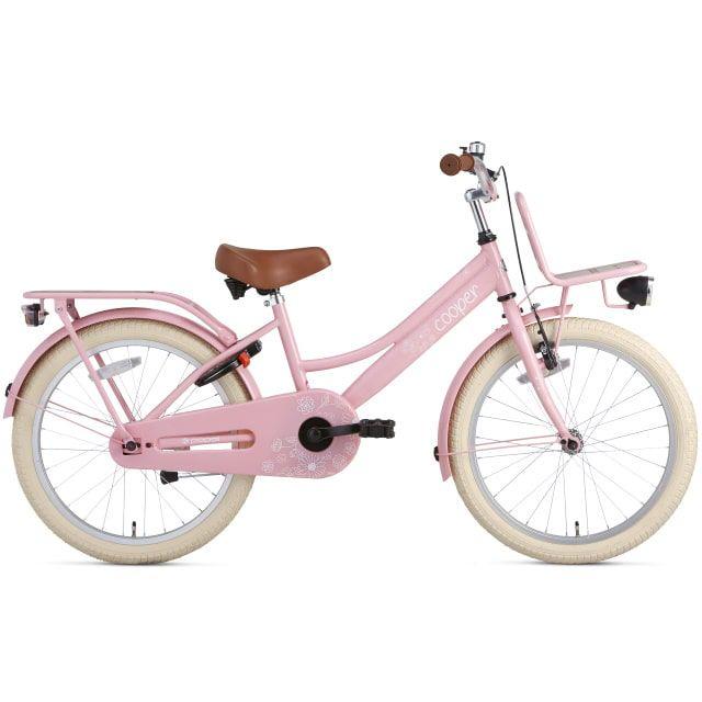 Supersuper Cooper Bamboo 20 inch Roze Meisjesfiets