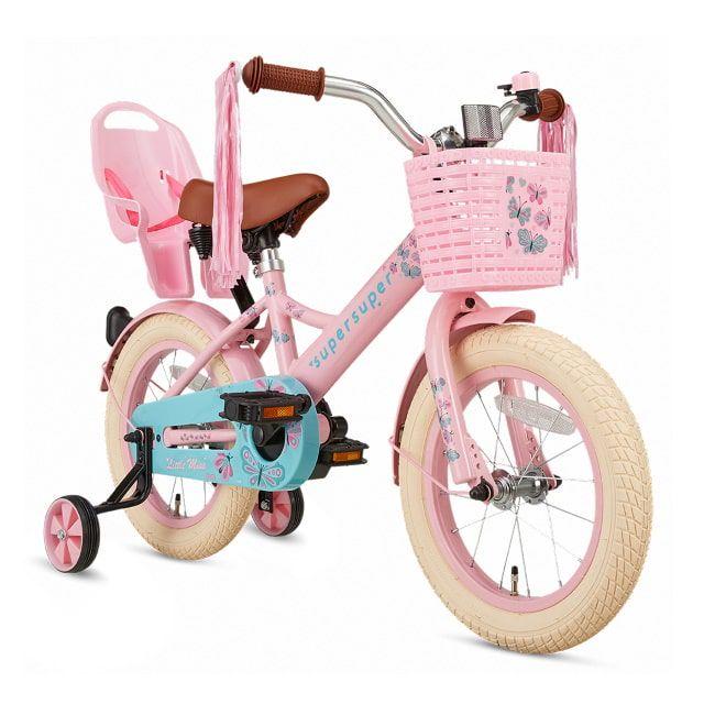 Meisjesfiets Little Miss 14 inch Roze