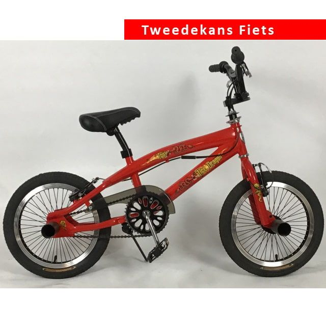 Troy BMX Crossfiets Freestyle 16 inch Rood Tweede Kans
