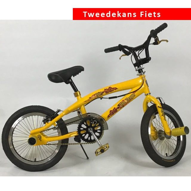 Troy BMX Crossfiets Freestyle 16 inch Yellow Tweede Kans