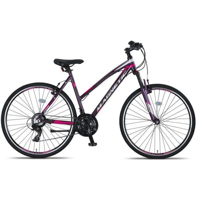 Umit Magnetic Trekking 21 Speed V Dames 28 inch 52 cm Gray Pink.jpg