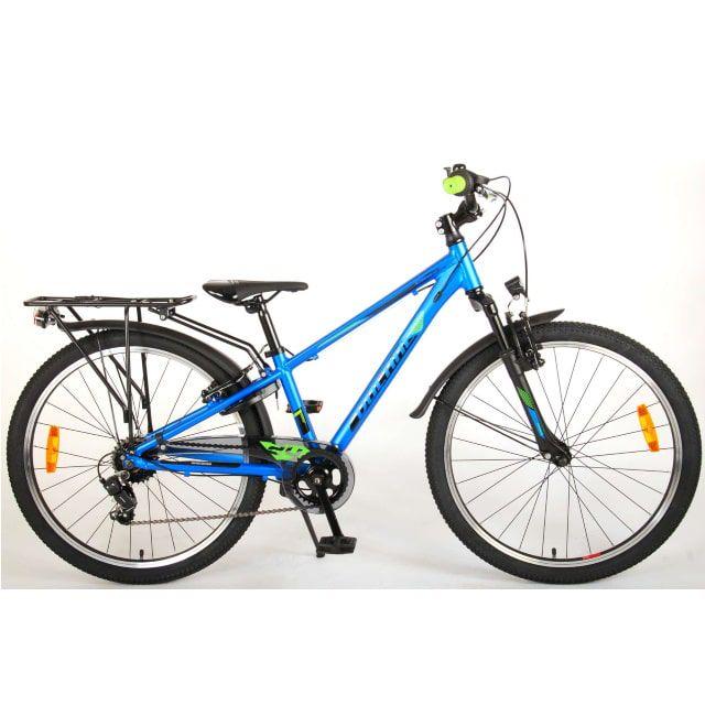 Volare Cross Kinderfiets Jongens 24 inch Blauw Groen 6 Versnellingen Prime Collection