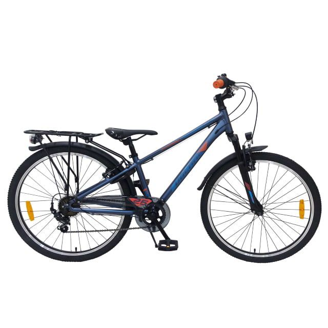 Volare Cross Kinderfiets Jongens 26 inch Blauw 7 versnellingen Prime Collection